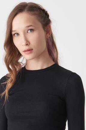 Addax Kadın Siyah Uzun Kollu Bluz P1017 - K12 ADX-0000022662 1