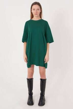 Addax Kadın Zümrüt Oversize T-Shirt P0731 - G6K7 Adx-0000020596 1