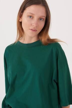 Addax Kadın Zümrüt Oversize T-Shirt P0731 - G6K7 Adx-0000020596 2