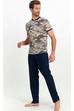 تصویر از لباس خواب مردانه کد AR1362-BEJ-2X
