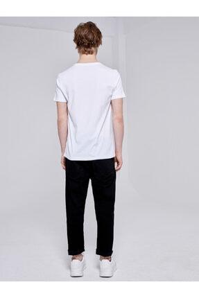 Ltb Erkek  Beyaz  Baskılı  Kısa Kol Bisiklet Yaka T-Shirt 012208415960890000 3