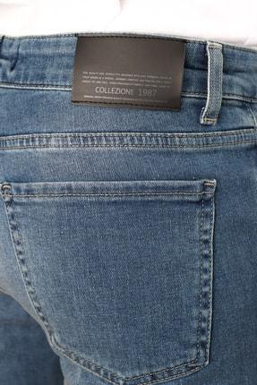 Collezione Collezıone Steve Taşlamalı Slim Fit Mavi Kot Pantolon 4