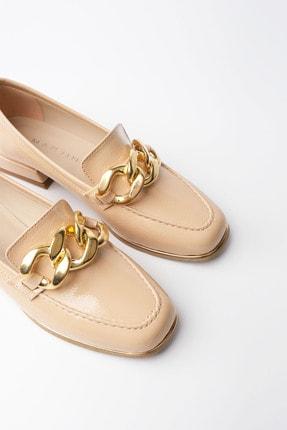 Marjin Kadın Bej Rugan Loafer Ayakkabı Annar 4