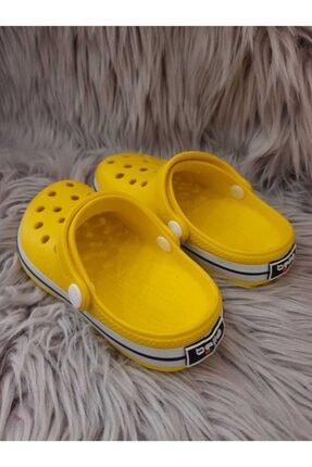 Akınalbella Çocuk Sarı Beyaz Lacivert Crocs Terlik 3