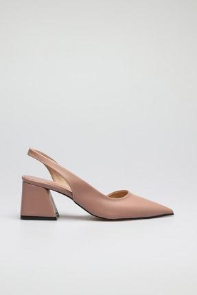 ALTINAYAK Kadın Yanı Kesik Arka Açık Sivri Kalıp Ayakkabı 1