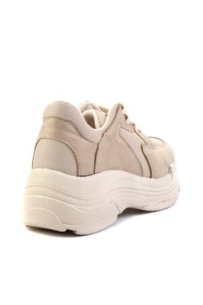 Bambi Bej Süet Kadın Sneaker K01836001065 3