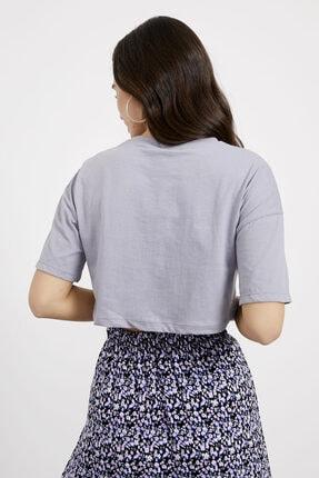 Arma Life Kadın Bisiklet Yaka Düşük Kol Crop T-shirt 3
