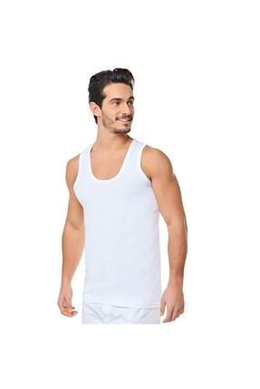 Picture of Erkek Beyaz Askılı Pamuk Penye Atlet 6'lı 0001