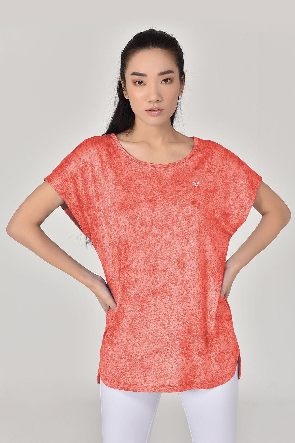 bilcee Kadın Pembe Tshirt 8075