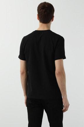Network Erkek Slim Fit Siyah T-shirt 1077937 2