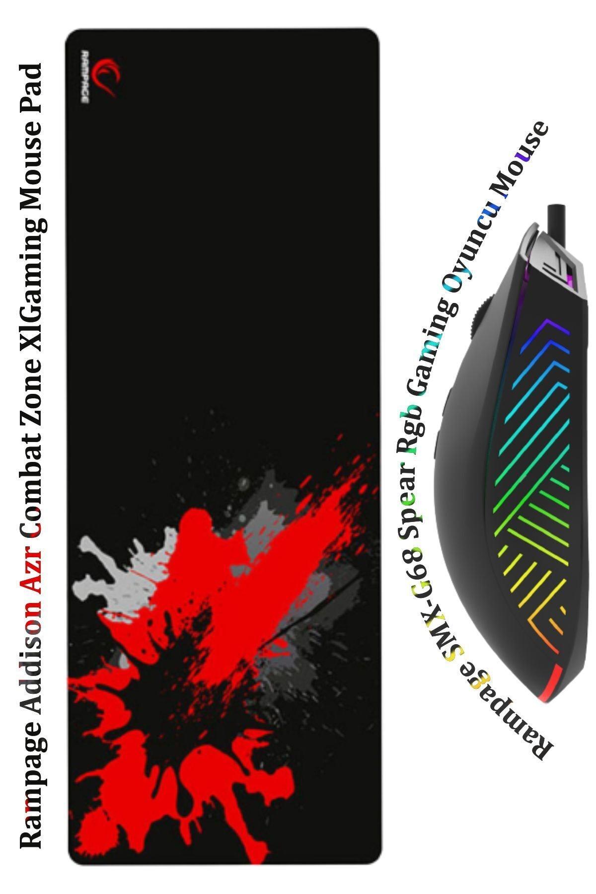 Combat-68 S Gaming Oyuncu Xl 80*30*4 Mousepad Smx-g68 Spear Rgb Ledli Makrolu Mouse