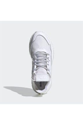 adidas Erkek Beyaz Nite Jogger Günlük Spor Ayakkabı 4