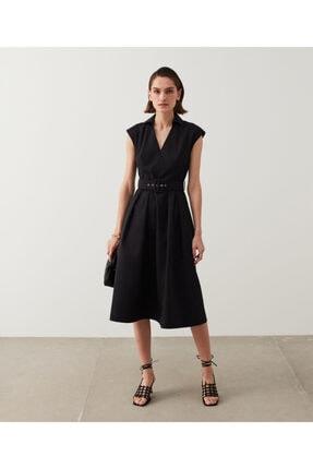 İpekyol Kemerli Midi Elbise 0