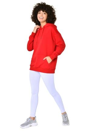 bilcee Kırmızı Kadın Kapüşonlu Sweatshırt GW-8785 4