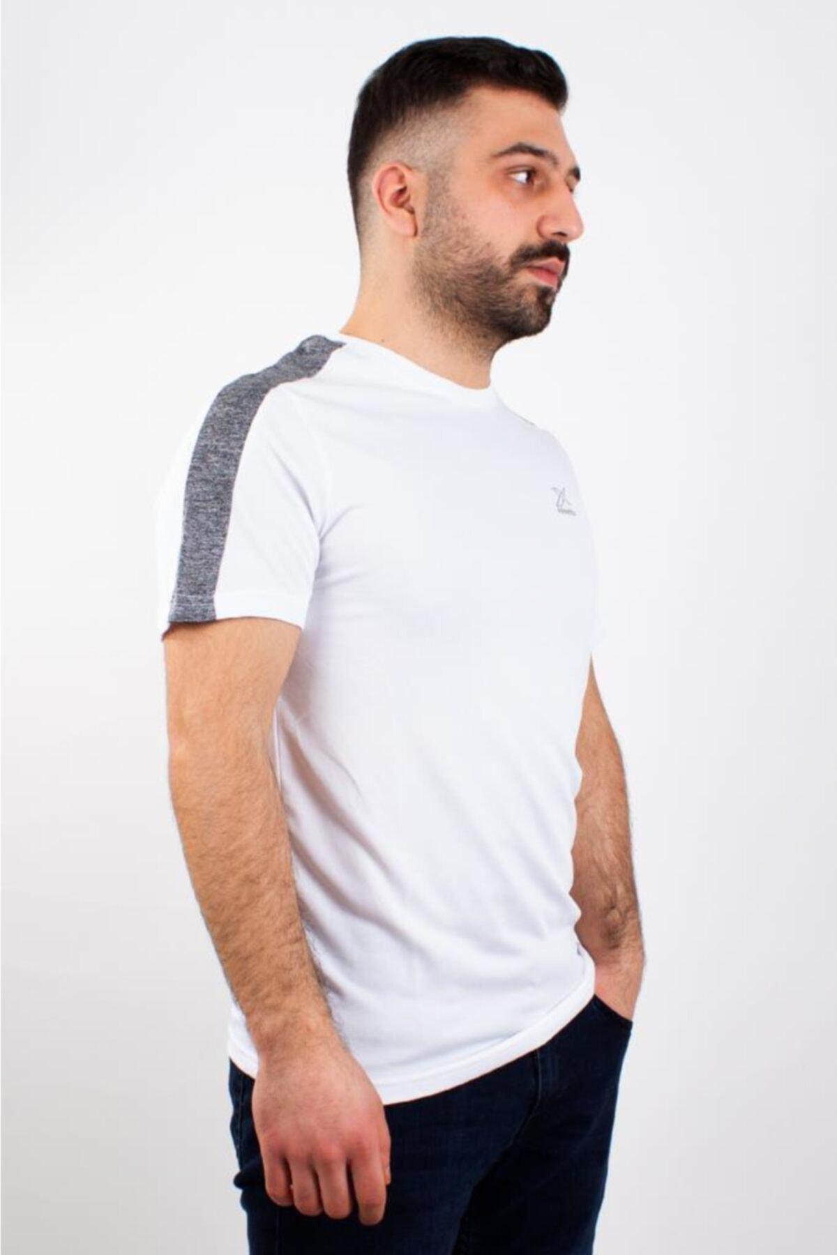 M-18058 WEBB KK TSHIRT Beyaz Erkek T-Shirt 101013837