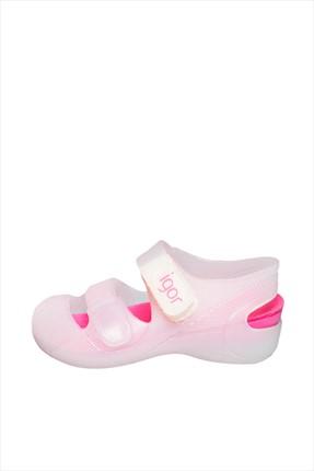 Beyaz-Fuşya Çocuk Sandalet S10110 resmi