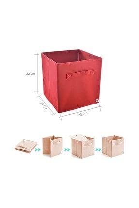 Rani Mobilya Rani Q1 Medium Çok Amaçlı Dolap Içi Düzenleyici Kutu Dekoratif Saklama Kutusu Raf Organizer Kırmızı 1