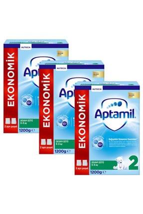 Aptamil Devam Sütü 2 Numara Yeni Formül 1200 gr x 3 Adet 0
