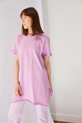 Trendyol Modest Lila Basic Tunik T-shirt TCTSS21TN0056 1