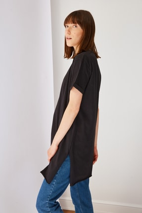 Trendyol Modest Siyah Basic Tunik T-shirt TCTSS21TN0056 1