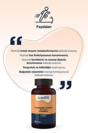 Eczacıbaşı Selfit Magnesium Citrate 200 Mg & D3 Vitamin 60 Tablet - Son Kullanma Tarihi: 01.2023 4