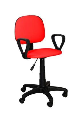 Remaks Ofis Sandalyesi Sekreter Koltuğu Bilgisayar Koltuğu Kollu Çalışma Taburesi kırmızı 1