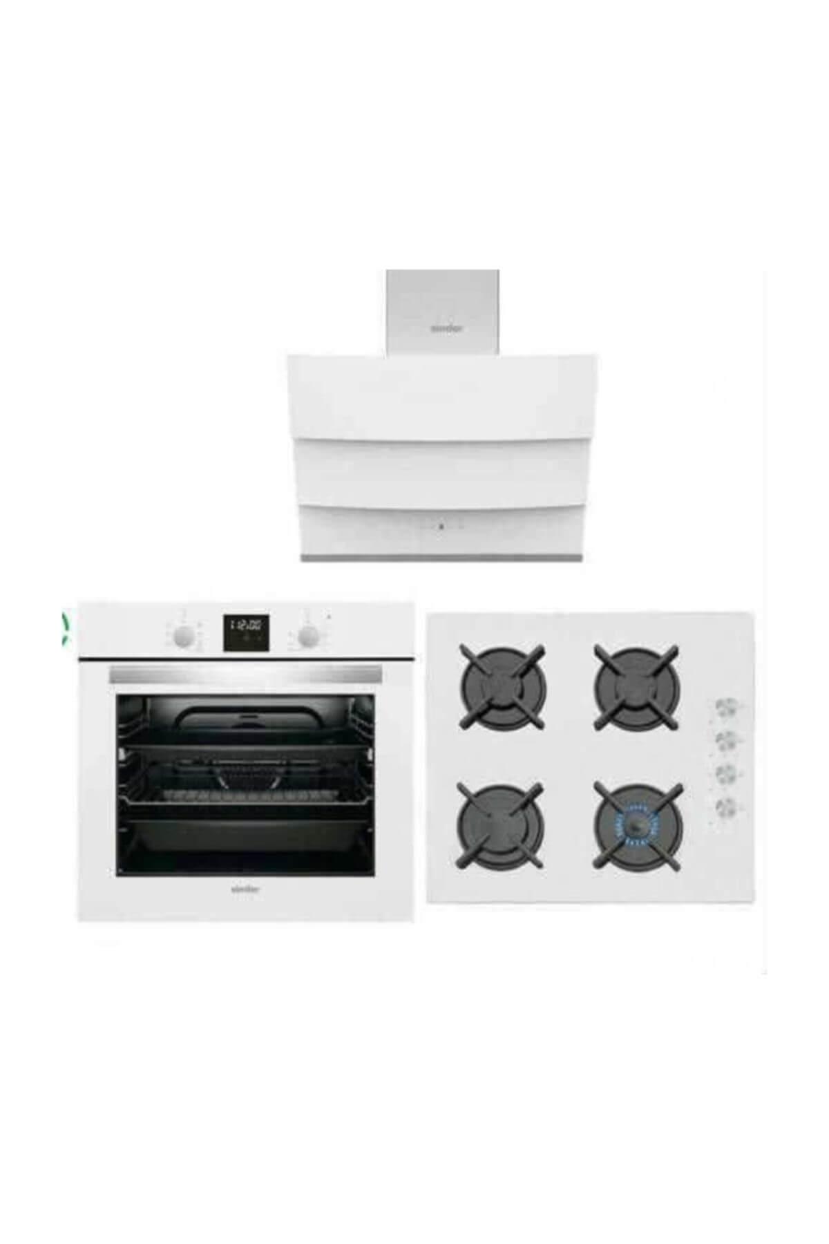 Simfer Beyaz Dijital Ankastre Set (7310 Fırın+3507 Ocak+8688 Davlumbaz)  Fiyatı, Yorumları - TRENDYOL