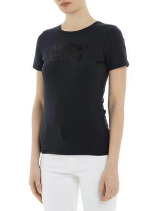 Emporio Armani Lacivert Kadın T-Shirt 3G2T86 2JQAZ 0920 3