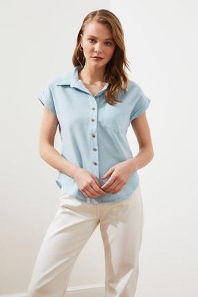 TRENDYOLMİLLA Mint Klasik Gömlek TWOAW20GO0081 0