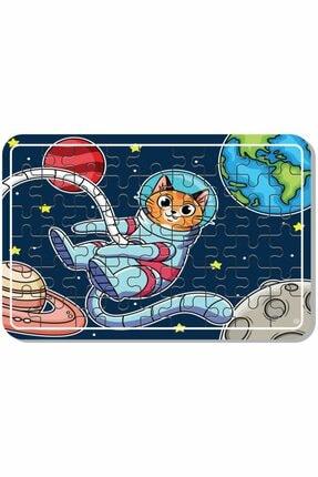 Baskı Atölyesi Uzay Kedi, Sevimli Hayvanlar, Lunapark , Masal Kahramanları Çiftlik Hayvanları 54 Parça Ahşap Puzzle 1