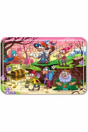 Baskı Atölyesi Uzay Kedi, Sevimli Hayvanlar, Lunapark , Masal Kahramanları Çiftlik Hayvanları 54 Parça Ahşap Puzzle 4