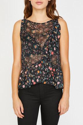 Koton Kadın Siyah Bluz 8YAK33553EW 2