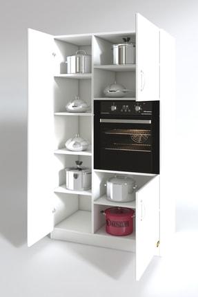 Kenzlife Beyaz Ankastre Fırın Dolabı Banu Mutfak Banyo Kiler Ofis Kitaplık 1
