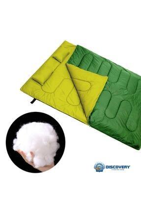 DFT Erciyes Outdoor Çift Kişilik (190+30)x145cm Yeşil -5° Uyku Tulumu Yastıklı 4