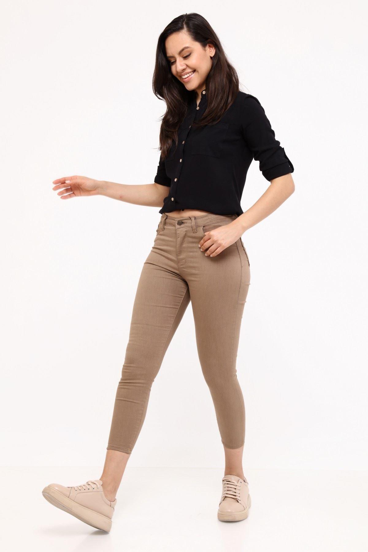 Yenikoza Kadın Vizon Kanvas Pantolon 116