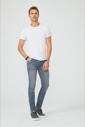 Avva Erkek Beyaz Bisiklet Yaka Düz T-shirt E001000 3