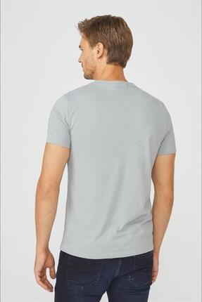 Avva Erkek Gri Bisiklet Yaka Düz T-shirt E001000 3