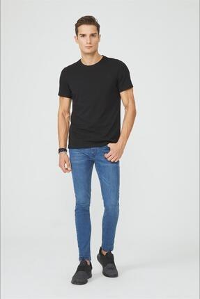 Avva Erkek Siyah Bisiklet Yaka Düz T-shirt E001000 3