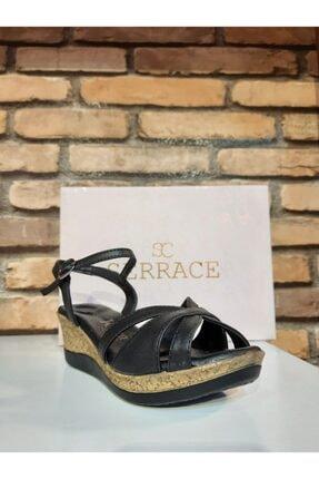 SERRACE Kadın Siyah Sandalet 2