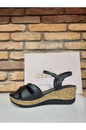SERRACE Kadın Siyah Sandalet 3