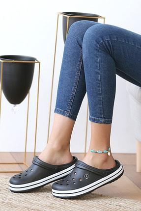 Pembe Potin Unisex Siyah Sandalet 2
