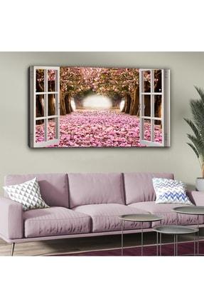 hanhomeart Aşk Yolu Pencere Kanvas Tablo 60 X 120cm 0
