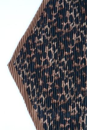 Y-London 13486-1 Leopar Desenli Pliseli Fular 4