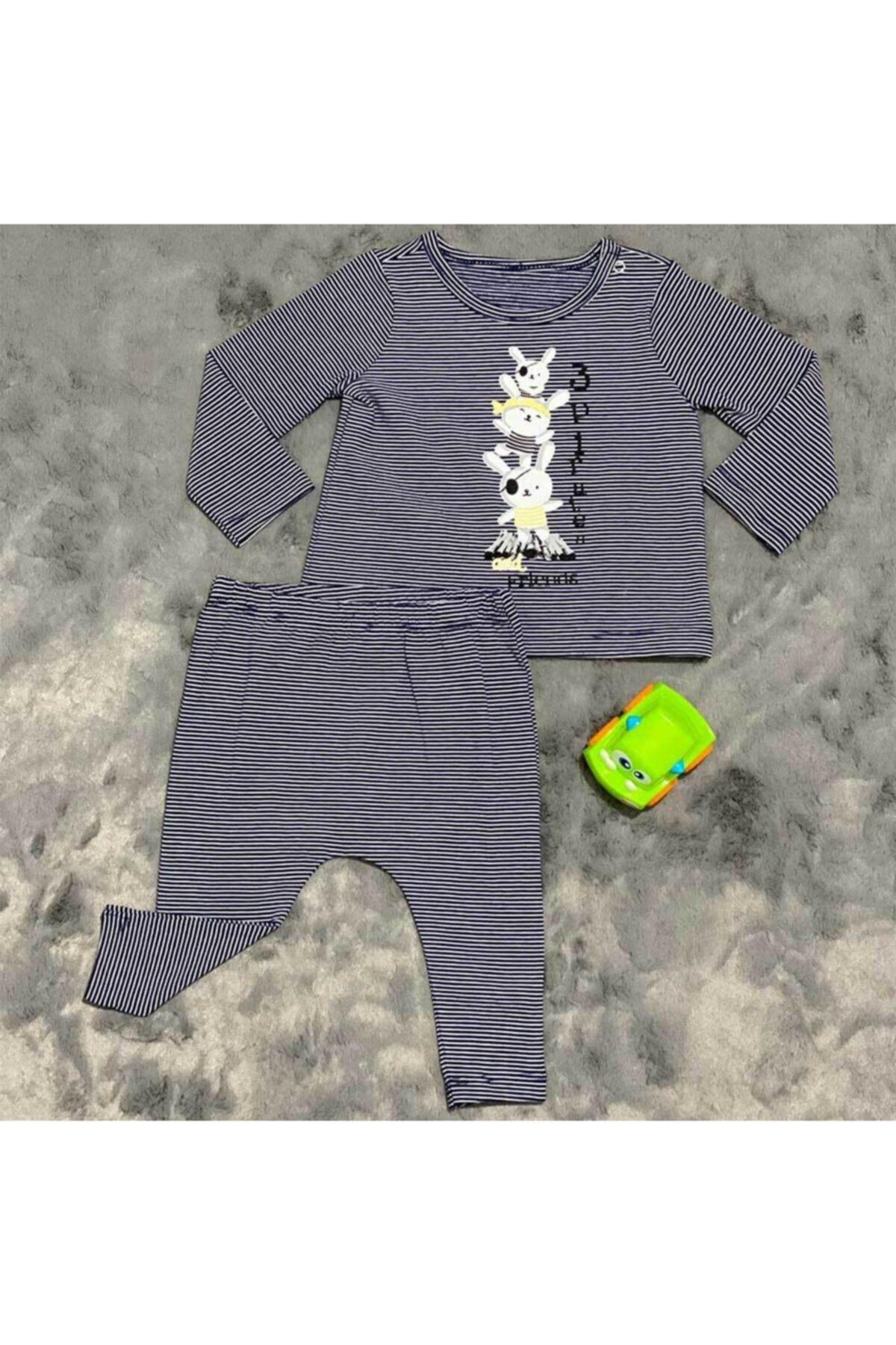 Pieros Baby 0018 Erkek Bebek 2'li Takım