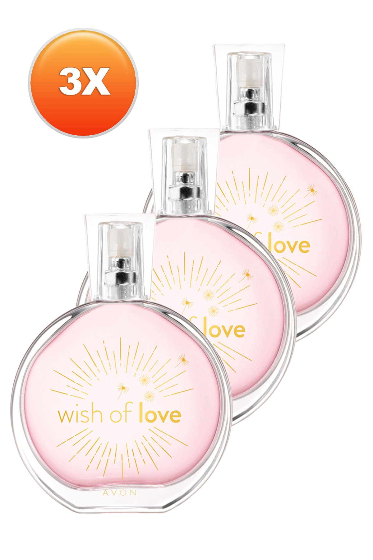 Avon Wish Of Love Kadın Parfüm Edt 50 ml 3'lü Set 5050000103381 1