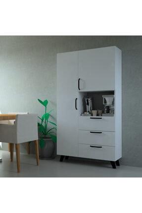 MOBİLİQUE Çok Amaçlı Mutfak Mikrodalga Fırın Dolabı Beyaz 1