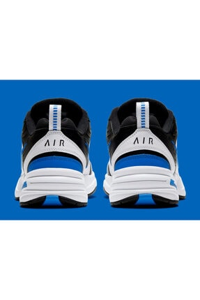 Nike Air Monarch Iv 4 Siyah Beyaz Mavi Retro Unisex Sneaker Ayakkabı 415445-002 4