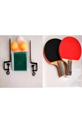 inci paketi Masa Tenis Seti 2 Raket 3 Top Ve File 0