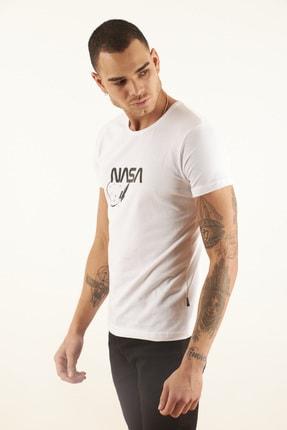 TRICKO Erkek Beyaz Baskılı T-shirt 1