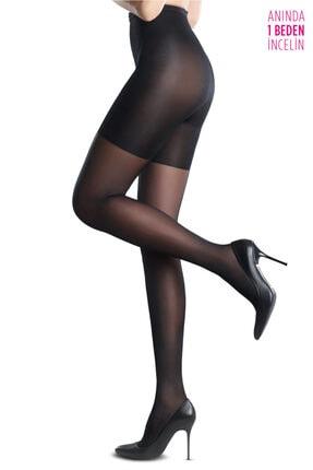 Penti Siyah Body Form Külotlu Çorap Xl - 4 1
